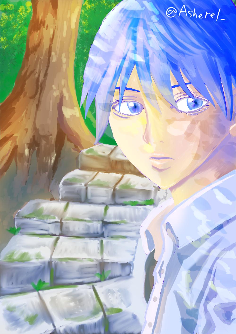 【短編小説】青い髪の少年